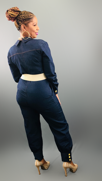 Denim-N-Gold Jumpsuit
