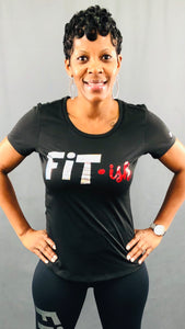 Fit · ish Bling Performance Tee (Red & Silver)