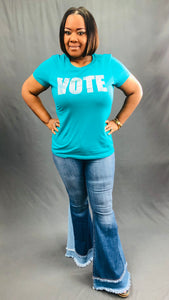 VOTE Bling Shirt (Jade)