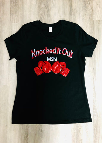 Knocked It Out Bling Shirt
