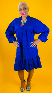 Sistah Tunic Dress - ROYAL