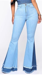 Retro Chic Jeans - Light Blue