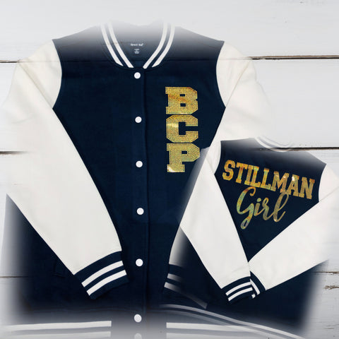 Stillman Girl Letterman Bling Jacket - Superior Boutique