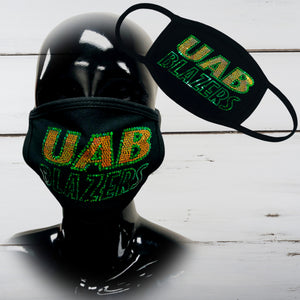 Blazers Bling Face Mask - Superior Boutique