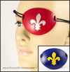 Fleur-de-Lis pirate eyepatch handmade leather eye patch Halloween masquerade costume Mardi Gras heraldry