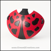Ladybug eyepatch cute pirate leather eye patch costume handmade masquerade kawaii ladybird