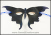 Blue Black Butterfly handmade leather masquerade mask for Halloween costume, Mardi Gras, masquerade wedding, LARP, lepidopterists