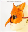 Ginger Gryphon mask, handmade leather masquerade costume larp Halloween Mardi Gras griffin griffon hippogriff