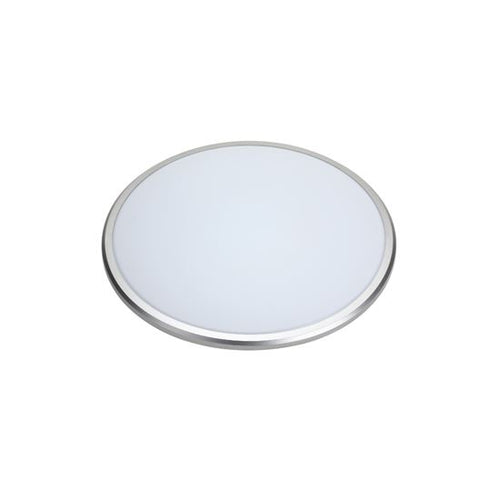 14W 3K DIMMABLE INTERIOR LED CEILING / WALL BUTTON SILVER