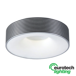 Eurotech Ribbed Fluorescent Ceiling Light - The Lighting Shop NZ