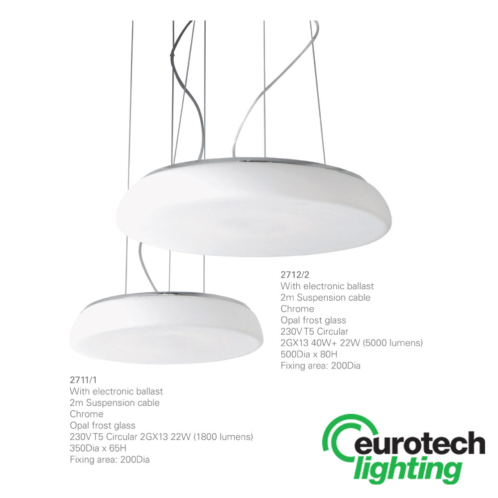 Eurotech Small Fluro dining room pendant - The Lighting Shop NZ