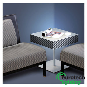 Eurotech Table with illuminated top - The Lighting Shop NZ