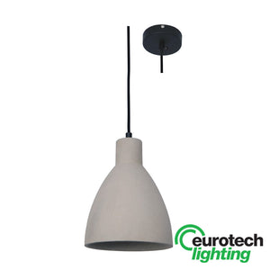 Eurotech LED Concrete Bell Pendant - The Lighting Shop NZ