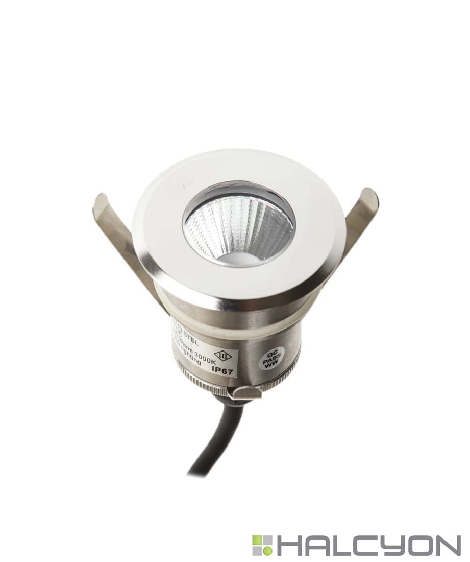 Halcyon Exterior Small Recessed Round – Up/ Down Light 24V DC