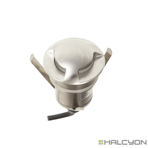 Halcyon LED Exterior Small Recessed Round – Up / Wall Light Triple Beam 24V DC