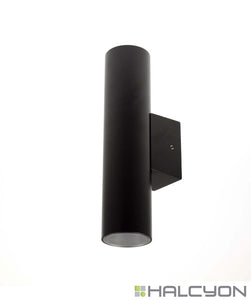 Halcyon LED Exterior Round Twin [Up and Down] Surface Mount Wall or Column