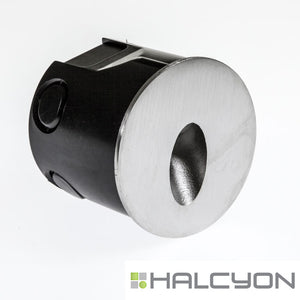 Halcyon LED Exterior Low Glare Wall Light – Recessed Round