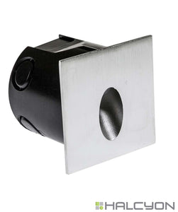 Halcyon LED Exterior Low Glare Wall Light – Recessed Square