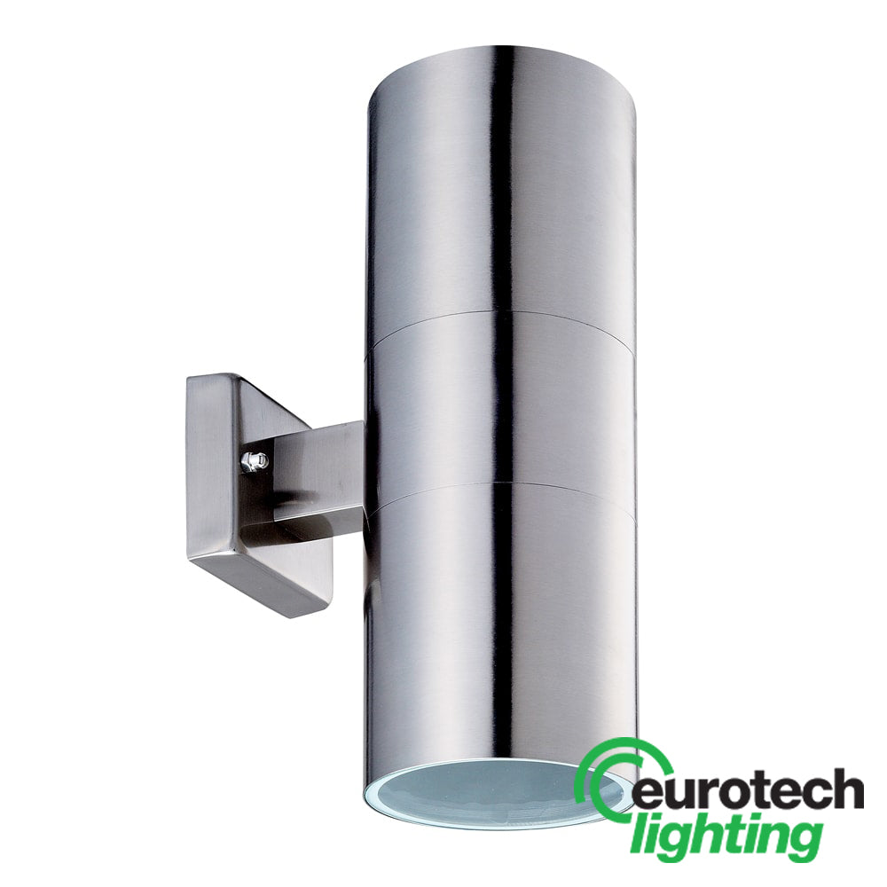 Eurotech Square-Backed LED Stainless Steel Up/Down Spotlight - The Lighting Shop NZ