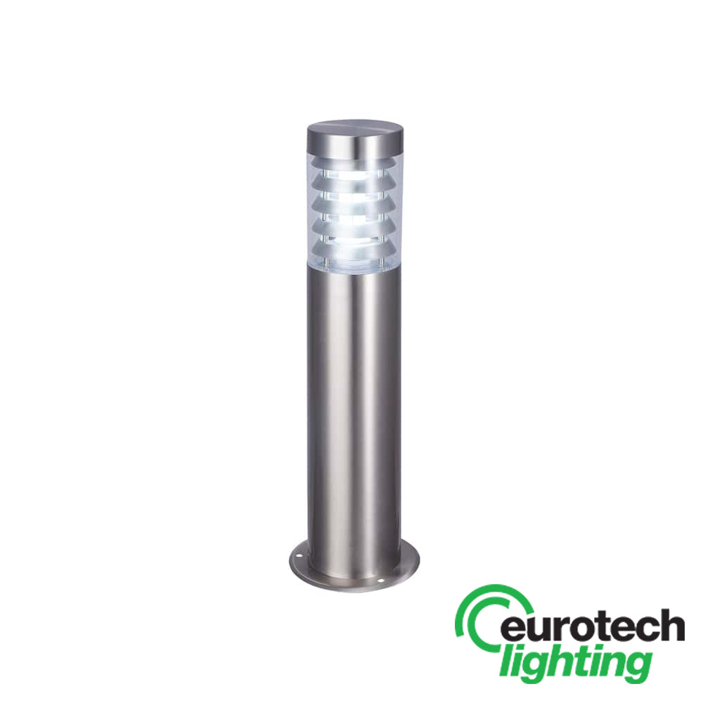 Eurotech Stainless Steel 500mm Louvred LED Bollard - The Lighting Shop NZ