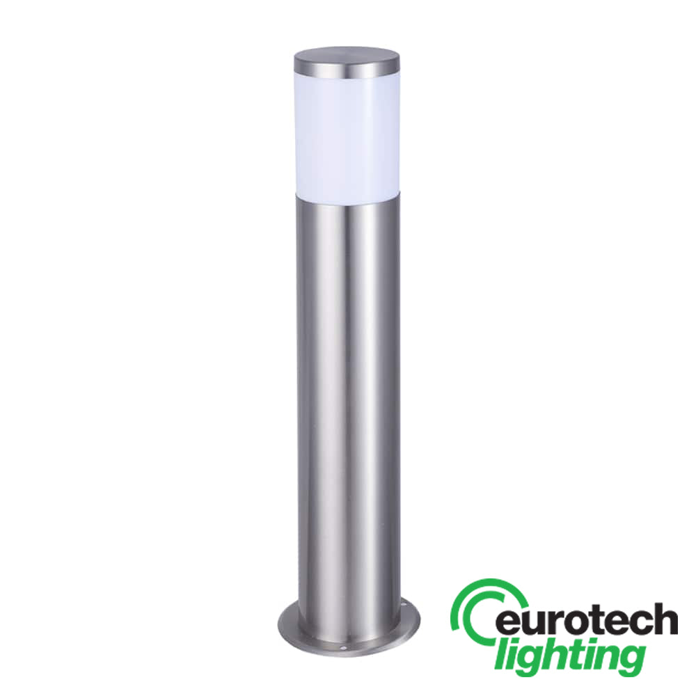 Eurotech Stainless Steel 800mm Long Round LED Bollard - The Lighting Shop NZ