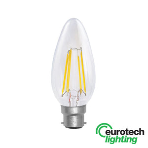 Eurotech LED Filament Bulb -- 35mm Candle - The Lighting Shop NZ