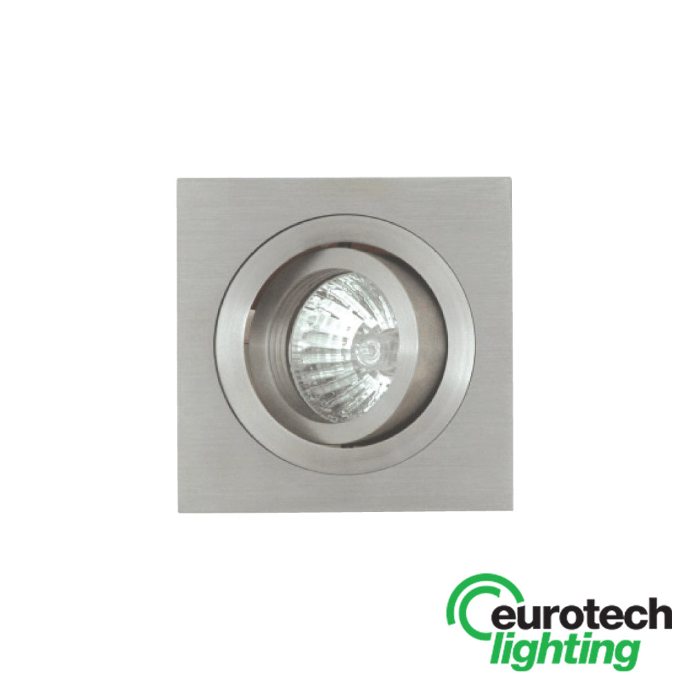 Eurotech Square Stainless Steel Tilt Downlights- Option of LED transformer - The Lighting Shop NZ