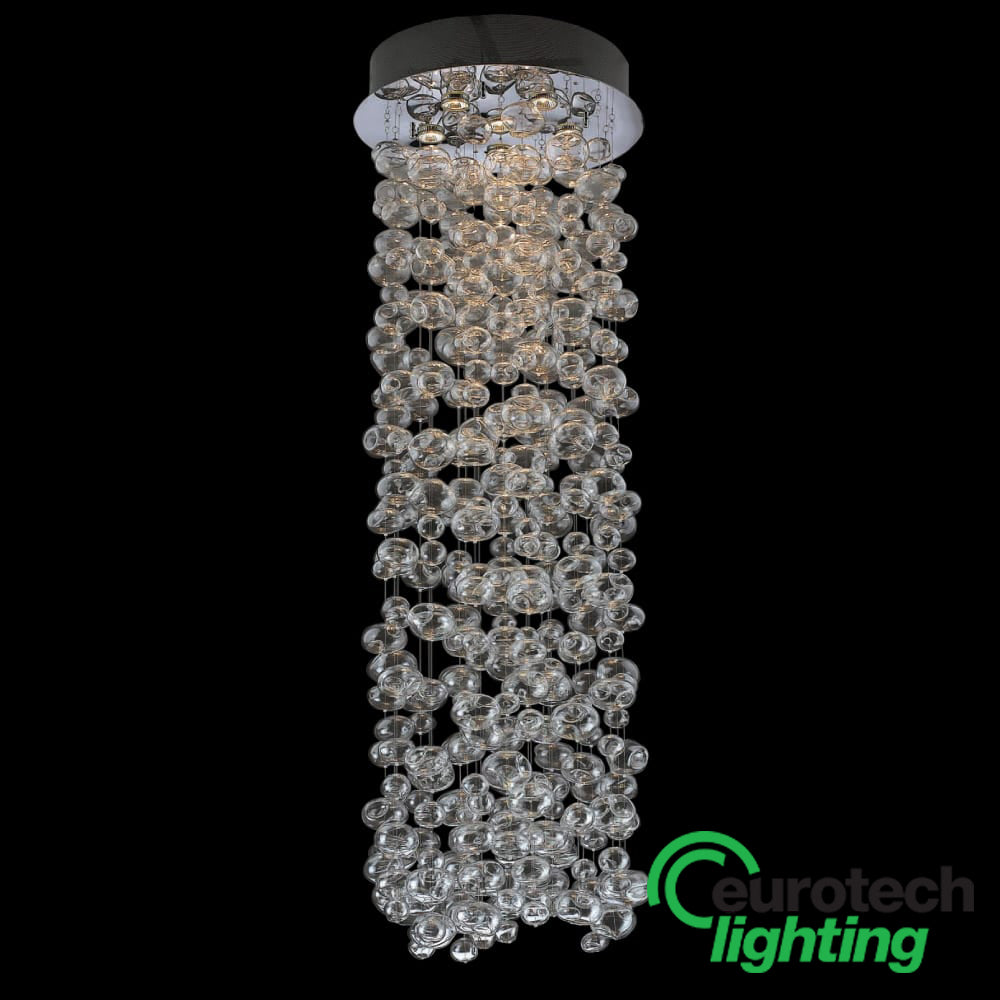 Eurotech LED Bubble Glass Chandelier - The Lighting Shop NZ