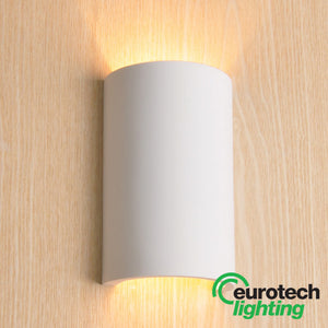 Eurotech LED Paintable Curved Wall Light - The Lighting Shop NZ