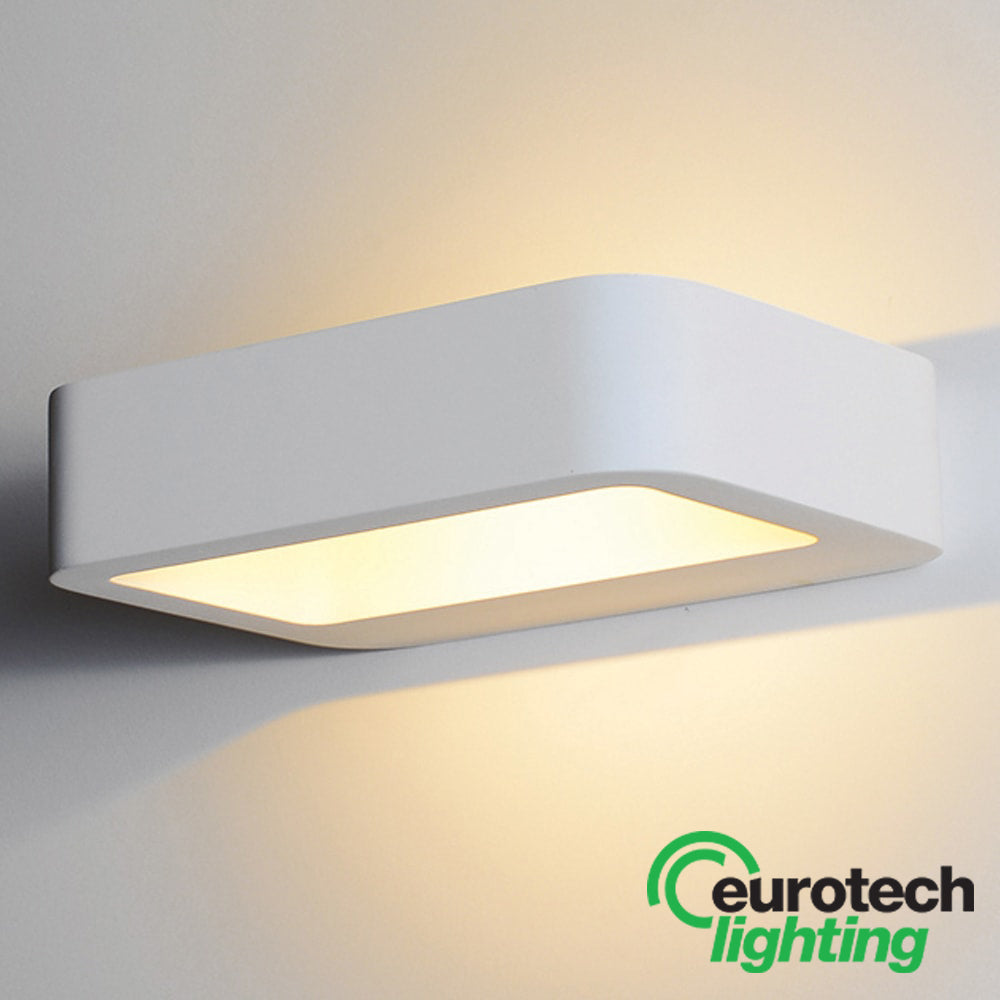 Eurotech LED Square Paintable Wall Light - The Lighting Shop NZ