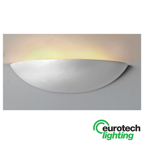 Eurotech LED Paintable Bowl Wall Uplight - The Lighting Shop NZ