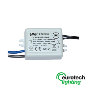 Eurotech 350mA Constant current LED driver with tails - The Lighting Shop NZ