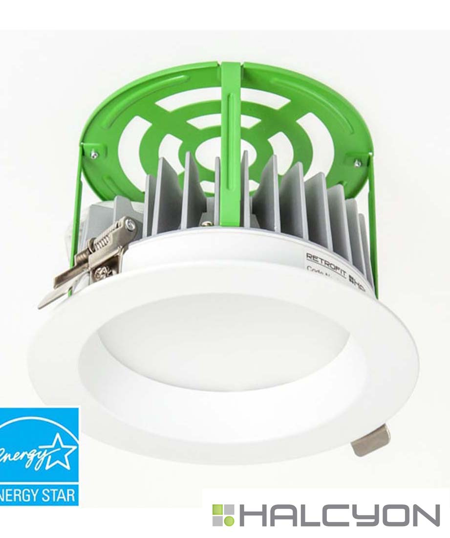 Halcyon Recessed LED Downlight with Driver – 11W Retrofit Low Glare
