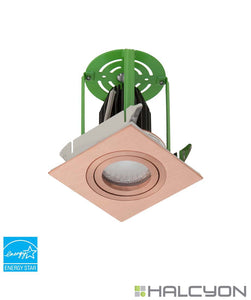 Halcyon LED Exterior Recessed Square Tilt Downlight Kit