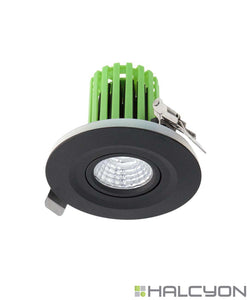 Halcyon LED Recessed LED Downlight Complete with Driver – Air Tight IP44 Smart Tilt Round