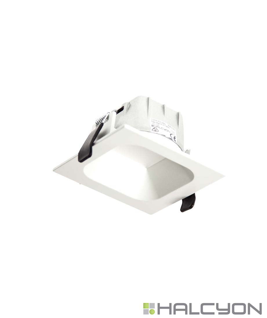 Halcyon Recessed LED Downlight with Driver – Small Square Low Glare
