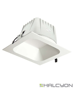 Halcyon LED Commercial Recessed LED Downlight – Extra Large Square Low Glare