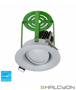 Halcyon LED Recessed LED Downlight Kit Complete with Driver – Tilt Round Curve Single