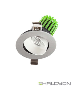 Halcyon Recessed LED Downlight Complete with Driver – IP44 Tilt Darklight Design Series