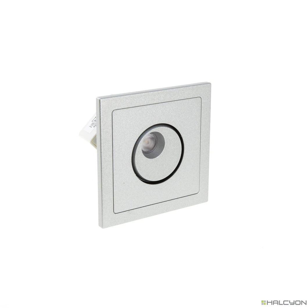 Square Interior Recessed Spot Tilt/Rotate Reading Highlighter