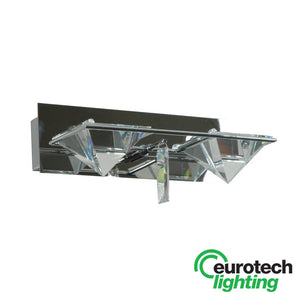 Eurotech Pyramid Crystal Double Wall light - The Lighting Shop NZ