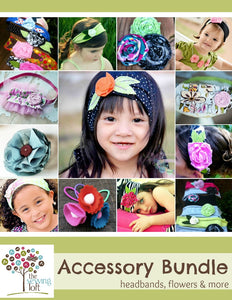Hair Accessory & Flower Bundle Pack