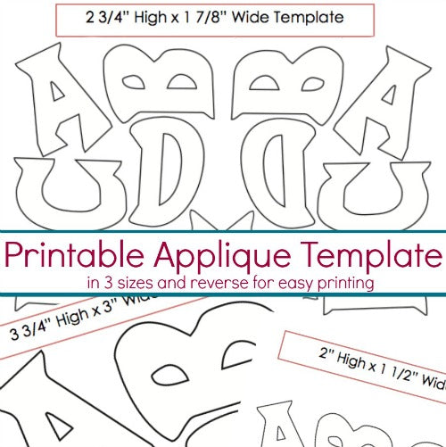 funky design applique template thesewingloft