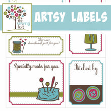 Printable Artsy Quilt Labels