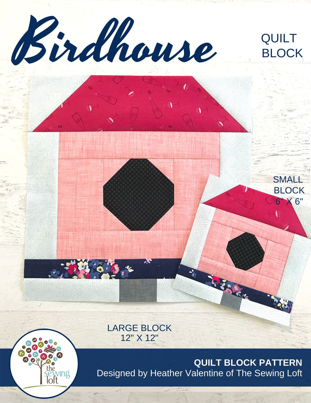 Birdhouse Quilt Block Pattern