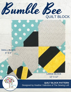 Bumble Bee Quilt Block Pattern