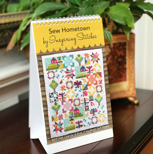 2019 Sew Hometown Block Of The Month Quilt Pattern Desk Calendar