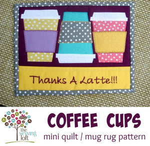 Coffee Cup Mini Quilt