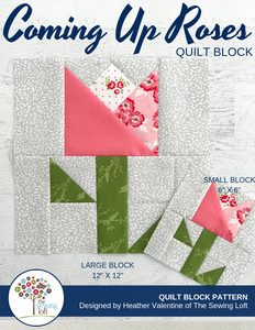 Coming Up Roses Block Pattern
