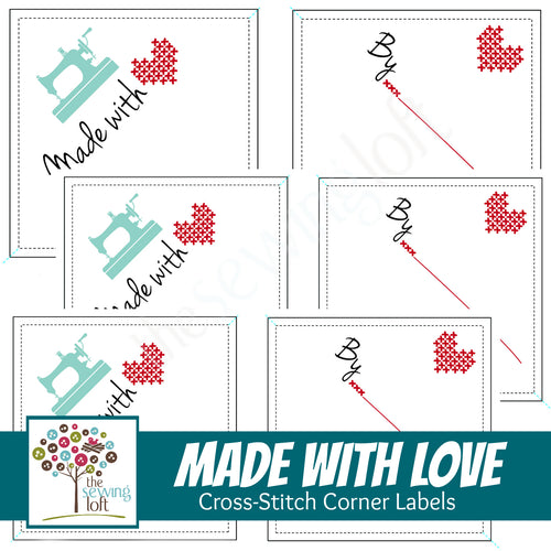 Made With Love Corner Labels